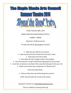 Reveal the Show Flyer 2014